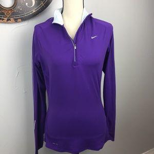 Nike Dri fit Top 3/4 zip size M